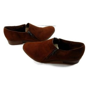 American Eagle Womens Brown Suade Slide on Booties